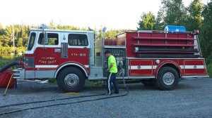 Lake Placid FD pump truck