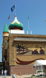 Southwest corner of the Corn Palace