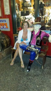 Donna's new friend at Wall Drug