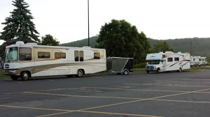 RVs overnight at Walmart