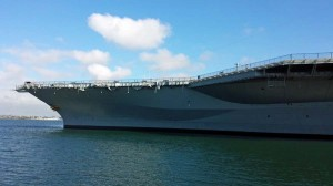 USS Midway bow