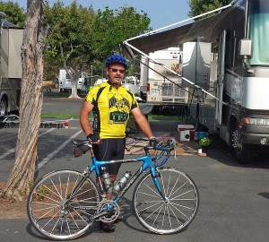 Yours truly with my carbon fiber frame Orbea Onix road bike.