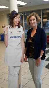 Flo and Donna at the Progressive Service Center