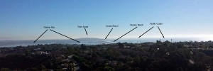 The view south from Mount Soledad