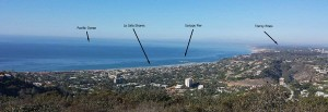 The view north from Mount Soledad