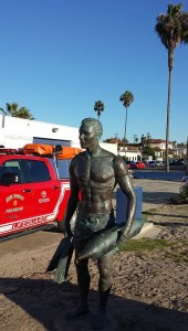 Ocean Beach lifeguard statue