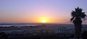 Sunset over Point Loma from Mona's balcony