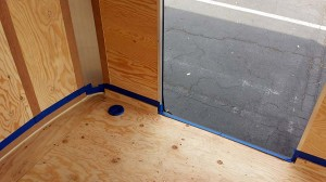 Masked with blue painters tape