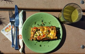 Frittata and green smoothie