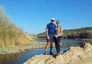 Ron and Dara by the Salt River