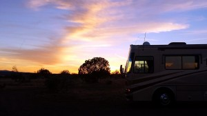 Our site at sunset