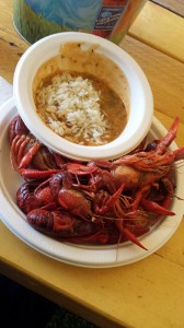 Gumbo and crawfish