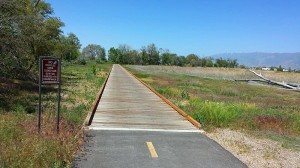 Boardwalk section on the Jordan River Trail
