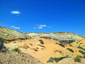 Sand dune and rock