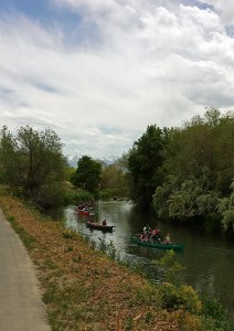 Canoes on the Jordan River