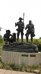 Sculpture of the explorers