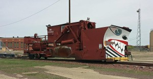 Rail snow plow