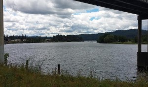 Mouth of the Spokane River at Lake Couer d'Alene