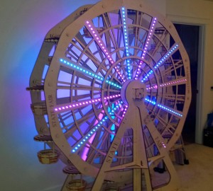 Seven foot tall model ferris wheel