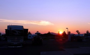 Sunset from the RV park last night