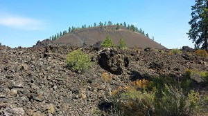 Lava Butte viewed from visitor center