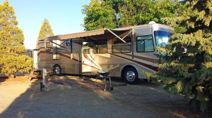 Our site at Mountain View RV Park