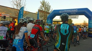 Starting line for the bicycle race
