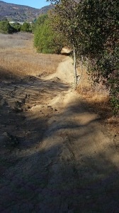 Steep, rutted downhill