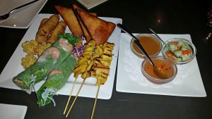 Thai appetizers for three