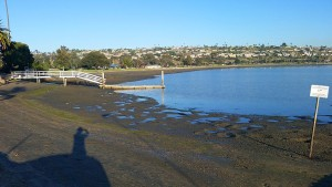Extreme low tide at De Anza