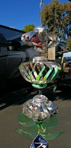Aluminum can wind ornament