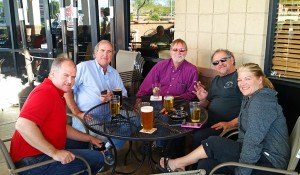 Patrick, Leendert, John, Mike and Jodi at Lucky Lou's