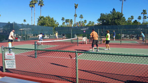Pickleball action at Venture Out