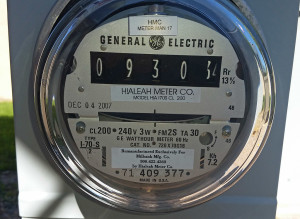 Our electric meter on the 12th. I'll take another photo when we check out.