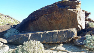 Petroglyphs on a rock in South Mountain Park/Preserve