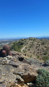 View north toward Phoenix from high on South Mountain
