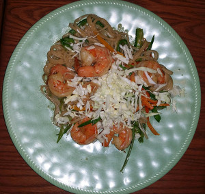 Thai Curry Shrimp with noodles