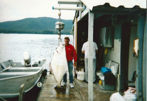 120 pound halibut from the Chatham Strait