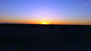 Desert sunset last night