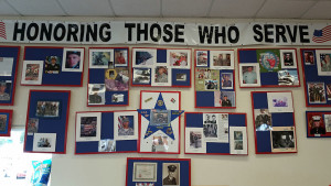 Display commemorating local veterans