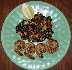 Grilled shrimp with XXXX
