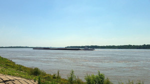 28 barge tow - six barges long and four deep lashed together