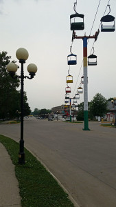 Tram to the main midway