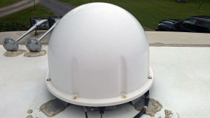 Satellite dome - two screws already removed