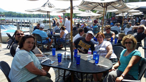 Linda. Tommy, Gene, Pam and Donna on the Algonquin deck