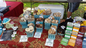 Some of the mushroom selection