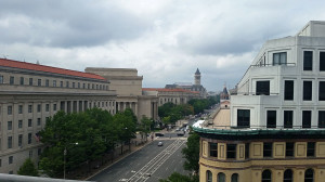 Looking up Pennsylvania Avenue from the Newseum