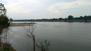 Arkansas River on the edge of the park