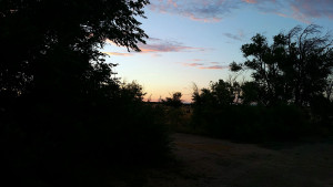 Sunset out our door at Flying C Ranch
