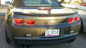 If you see a Camaro ZL1 with this plate, I advise you to stay away